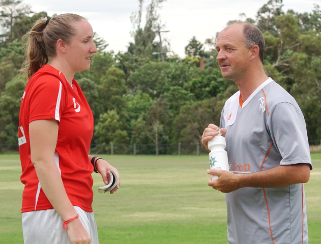 amy marron and allan cubbin at training