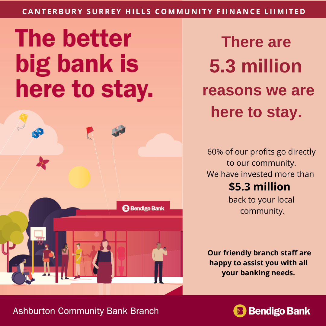 bendigo bank here to stay