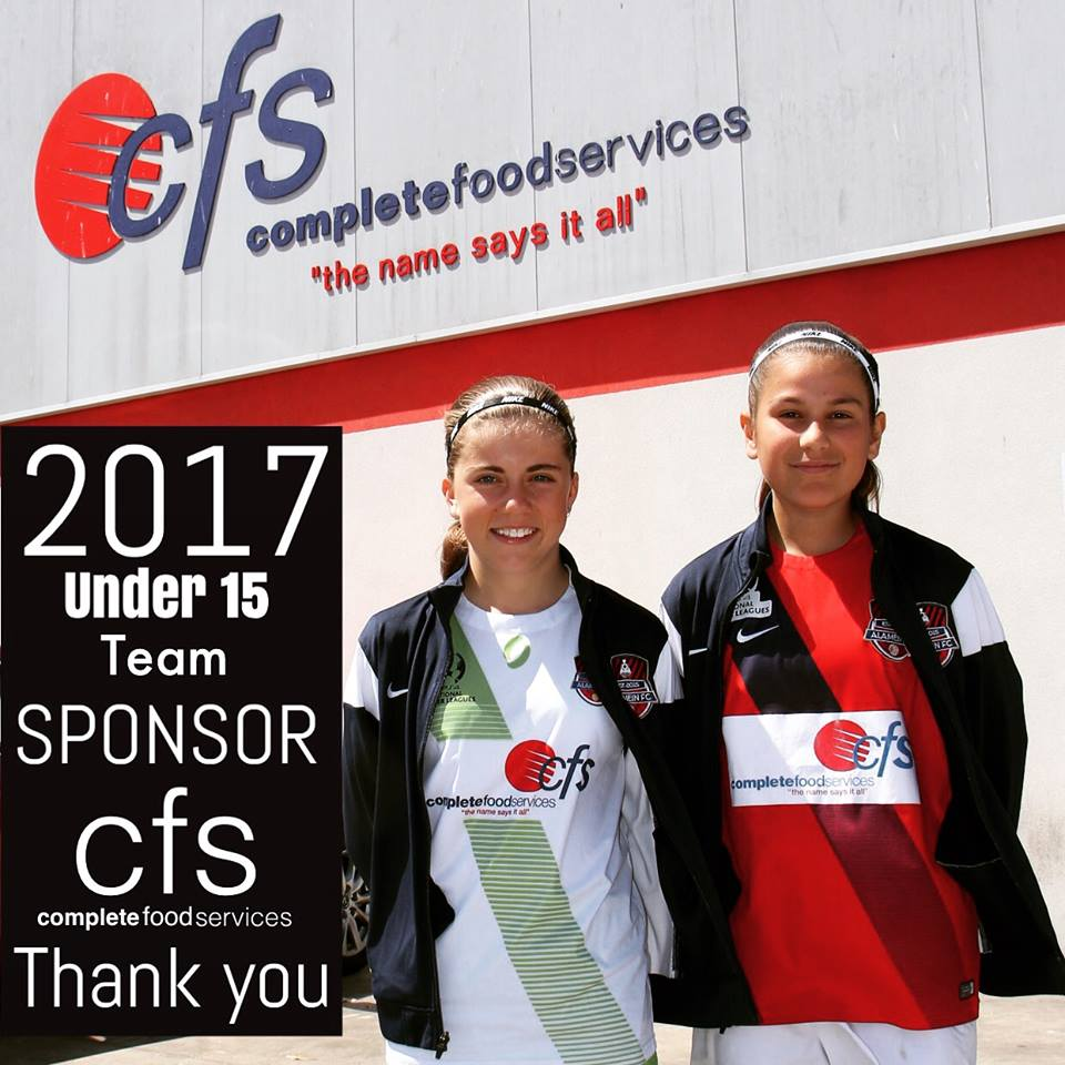cfs sponsor pic with U15 players